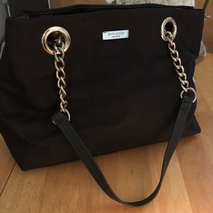 Kate Spade Nylon hand bag with leather straps.